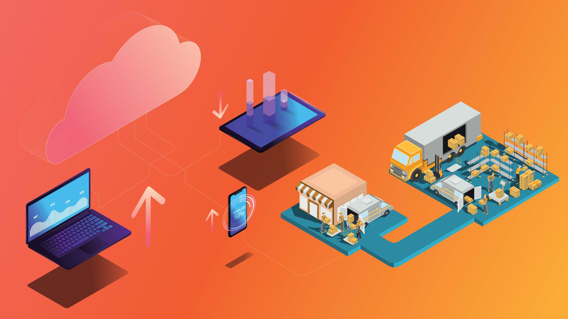 examine digital transformation in supply chain logistics